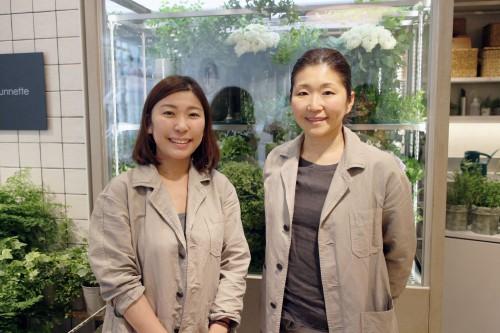 濱村純さん(右)とjunnette店長の羽鳥麻帆さん